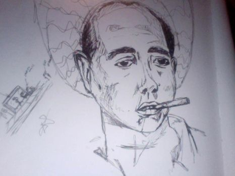 man with cigar by sleepless-art