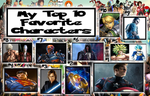 Top Ten Male Characters by WOLFBLADE111