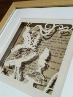 Who Are You - small Wonderland papercut by PaperPandaCuts