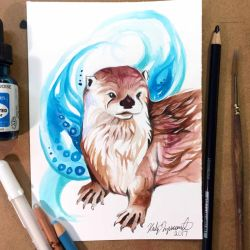 31- River Otter by Lucky978