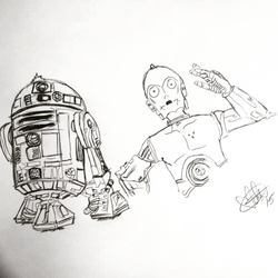 Droid Sketch by SunflowerVal