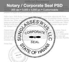 Notary / Corporate Seal PSD by spentoggle