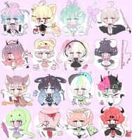 Mixed adoptables big batch set price CLOSED by SparksTea