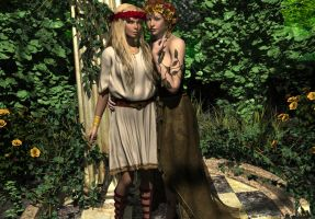 Demeter and Persephone by DiannaSilver