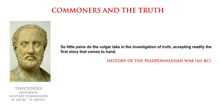 Thucydides - commoners and the truth by YamaLama1986