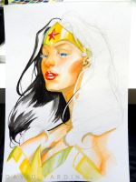 Wonder Woman Watercolour Step 5 by davidyardin