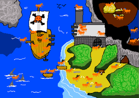 8Bit Pirate Ants - Artwork by JDWasabi