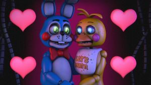 (sfm Fnaf 2) Toy Bonnie X Toy Chica by TrapSfm2018