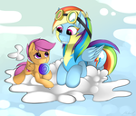 Just two pegasis on the cloud by malamol