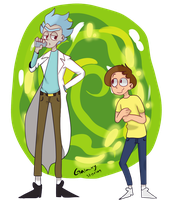 Rick And Morty by Galaxy-Storm