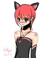 cat girl by einstery