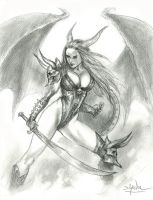 Succubus warrior by sebastien-grenier
