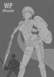 WIP - Summer Time Pyrrha - Alter Lineart by ADSouto