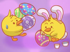 Happy Easter by JellySoupStudios