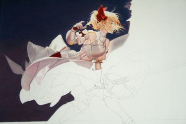Saber coloring progress II by Angelstorm-82