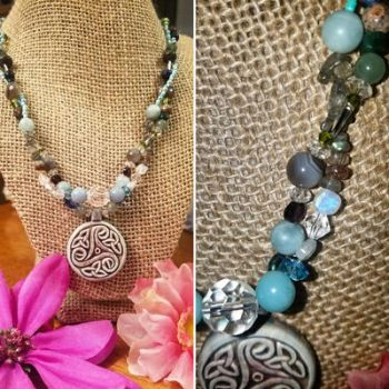 Triskelion gemstone necklace by FROdominatrix