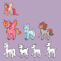 Compilation of Left-Facing Ponies by Lucheek