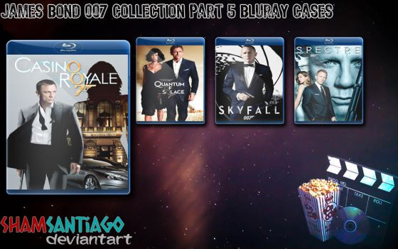 James Bond 007 Collection Part 5 Bluray Cases by ShamSantiago