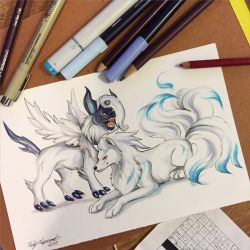 265- Mega Absol and Shiny Ninetales by Lucky978