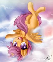 Scootaloo on the clouds (speedpaint). by KnifeH