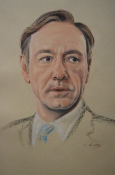 Kevin Spacey's portrait by Andromaque78