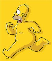 Homer Simpson by Igneously
