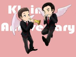 Klaine one year by Jackclamp