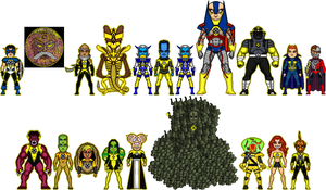 New Amalgam Comics: Leadestro and the Riot Corps by Red-Rum-18