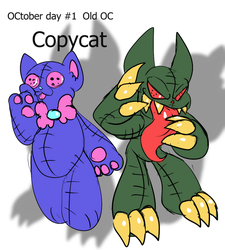 OCtober Day one:  Old OC, Copycat by rubybeam