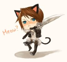 chibi Squall by f-wd