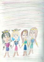 Tove, Unn, Buttercup and Daisy by Kelseyalicia