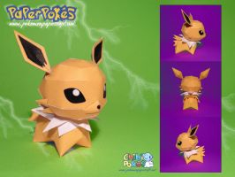 Chibi Jolteon Papercraft by Lyrin-83