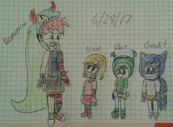 Demencia meet Nixie, Dleo, and Gendit by Mariascurra