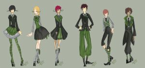 Slytherin Lolita-Kodona Uniforms by VanityElric