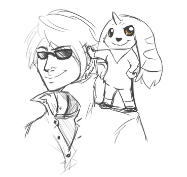 Jason and Terriermon by AnimeVSReality
