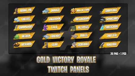 [GOLD] Victory Royale 2018 - Twitch Panels by lol0verlay
