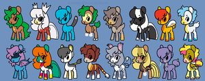 MLP Pokemon Based Adopts (Closed) by Living-Dead-Adopts