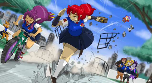 STRETCHYGF COMM: Race to School by ShoNuff44