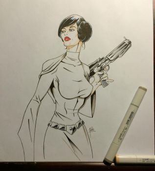 Princess Leia by MikeMahle