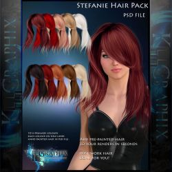 Stefanie Painted Instant Hair PSD - hair stock by MakeMeMagical