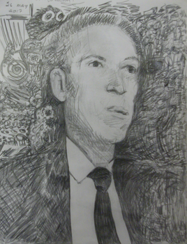 H. P. Lovecraft pencil sketch by misterwackydoodle