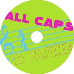 ALLCAPS Album Art Contest CD by panoramagraphics
