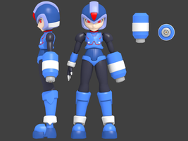 Blender 3D: Megaman Zero :Copy X |Final| by 4lyx9