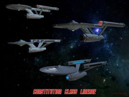 Constitution Class Lineage by unusualsuspex