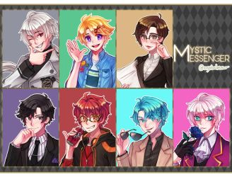 mystic messenger portraits by crystalmew