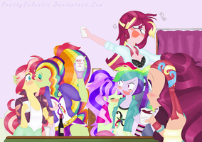 We've been drinking, now we're drunk in love. by PrettyCelestia
