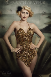 The birth of venus -in vintage showgirl style- by snottling1