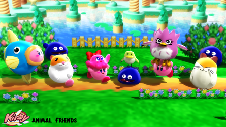 (MMD Model) Kirby's Animal Friends Download by SAB64