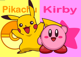 Pikachu and Kirby by Kittykun123