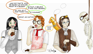 Clifton and Lacey Take Tea by Llrael